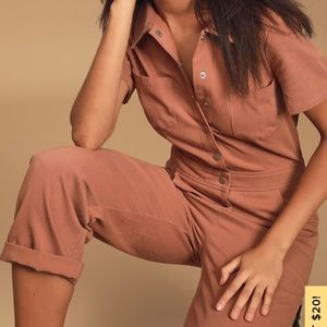 Lulus NWT fall industrial style romper, size S